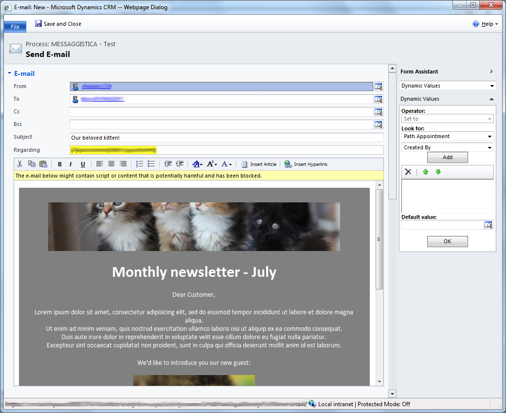 HTML Rich emails with Dynamics CRM 2011 | ElvenProgrammer